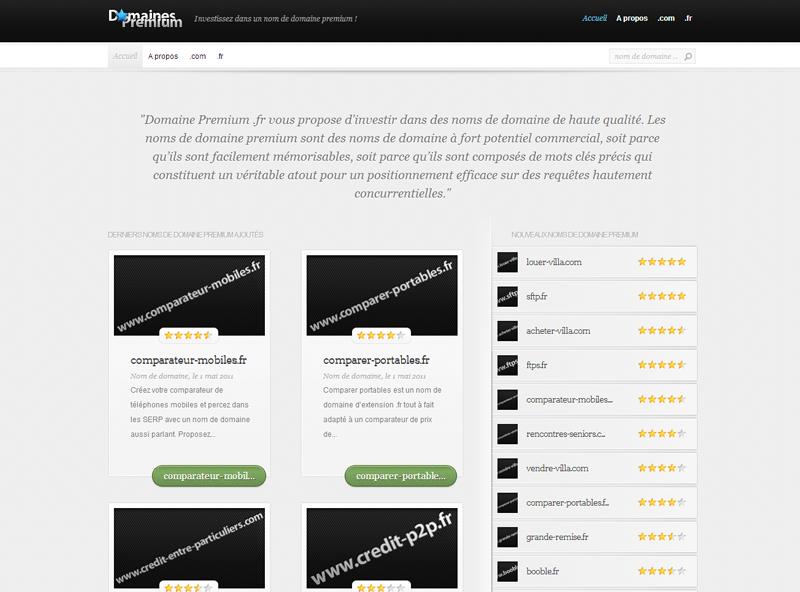 Domaines Premium .fr