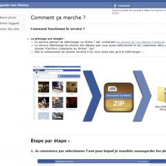 Sauvegarder ses photos .fr